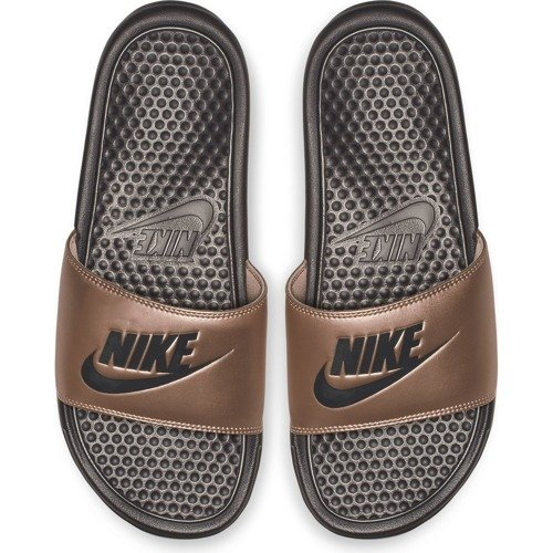 KLAPKI DAMSKIE NIKE BENASSI JUST DO IT BRĄZOWE 343881-900
